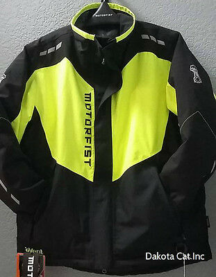 NEW Motorfist Clutch Jacket High Visability Men's Insulated Waterproof Size Larg