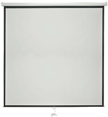 """MP Essentials White Manual Projector Screens with Auto Lock Function - 84"""" 1:1"""