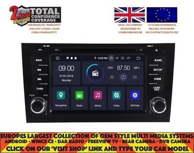 Autoradio Dvd/gps/navi/android 6.0/dab/bt For Audi A6/rs6 97-04/s6 B5577 (Bose)