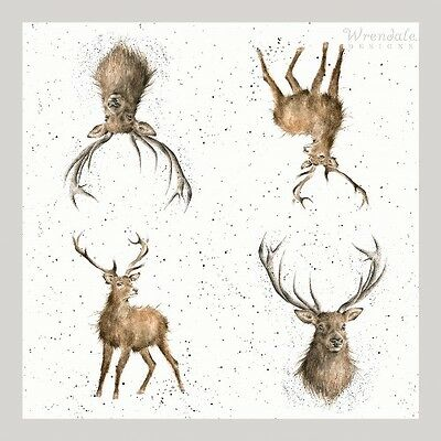 4 x Single Paper Table Napkins/WRENDALE/WILD AT HEART/STAG