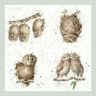 4 x Single Paper Table Napkins/WRENDALE/WHAT A HOOT/OWLS