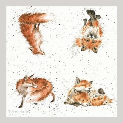 4 x Single Paper Table Napkins/WRENDALE/AFTERNOON NAP/FOX