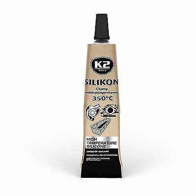 High Performance Temperature Resistant Silicone Adhesive Sealant Black 2 X 21g