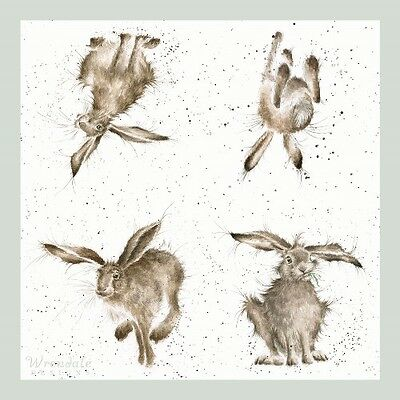 4 x Single Paper Table Napkin/WRENDALE/HARE BRAINED
