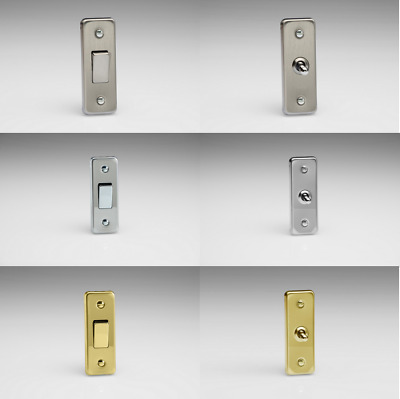 Varilight 1 Gang 10 Amp 1 or 2 Way Rocker or Toggle Architrave Switches