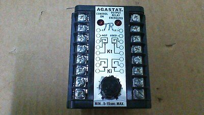 Agastat Time Delay Relay/.5 To 15 Sec Adj /120Vac Coil/120/240 10A Res Contacts