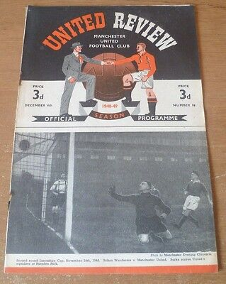 Manchester United v Newcastle United, 1948/49 - Division One Match Programme.