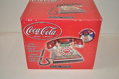 Nice Vintage Coca Cola Tiffany Style Stained Glass Look, Rotary Look Phone Nib