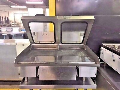 "American Griddle 3Ft-Hp 36"" Flat Grill With Lids    #11479"