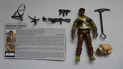 1985 GI Joe Alpine Complete w/File Card! Vintage Hasbro Action Figure -P 1