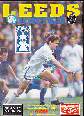 1990/91 LEEDS UNITED V ARSENAL 30-01-1991 FA Cup 4th Round Replay