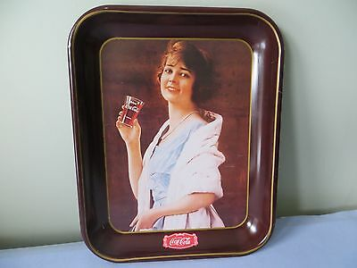 1979 Vintage Metal Coca Cola Tray With 1923 Advertising Picture