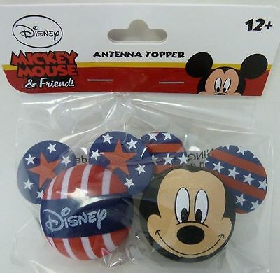 Disney Mickey Mouse USA Pride Stars and Stripes Antenna Pencil Toppers