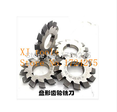 M0.5 modulus Pressure Angle of 20 degrees HSS gear Milling cutter 1-8# 8pcs/let