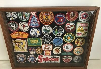 34 Vintage Patches Boy Scouts Girl Scouts Ozarks Council Post Office Shadow Box