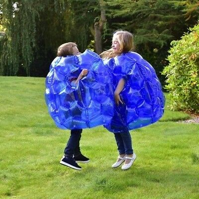 Kids Inflatable 2 x Buddy Bumper Bounce Balls Sumo Suits Fun Zorb Play Game