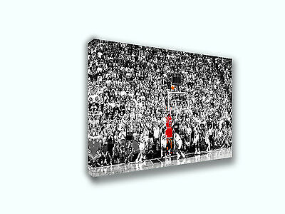 Michael Jordan Last Shot 1998  Painting Canvas Print Art Home Decor Wall