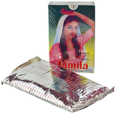 Jamila Herbal Henna Powder Mehndi for Body Art and Hair Colour 1 x 100gm pack