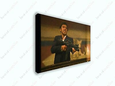 Scarface Say Hello To My Little Friend Painting Canvas Print Art Home Decor Wall