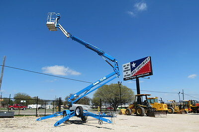 2012 GENIE TZ-50 TOWABLE BOOM LIFT TOW BEHIND 188 HRS 56' WORK HEIGHT DFW Texas