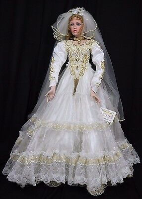 "MARIAH 42"" Rustie Limited Edition Bride Doll Bridal Gown PORCELAIN Welden Museum"