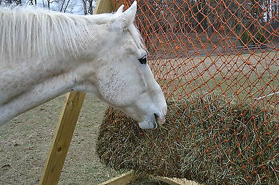 8'x8' HORSE SLOW FEEDER HEY NET, MAKING BAGS, POLY, RECYCLED FISH NET #4346