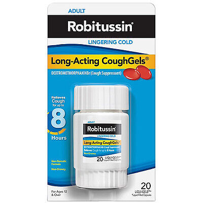 Robitussin Adult Long-Acting Cough Gels 20Ct
