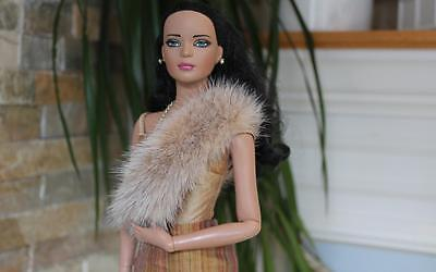 ~Blush Cross Mink Fur Infinity Shoulder Wrap 4 Gene Tyler Sydney dolls~dimitha