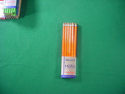 Vintage Dozen Wallace #6007 Motif Colored Pencils-Vermillion-50's/60's-USA-NOS