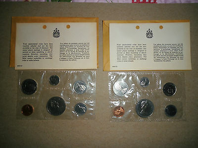 1968 & 1969 Canadian 6 Coin Proof Like Sets