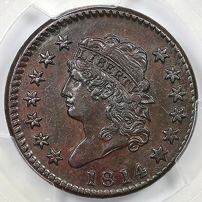 1814 S-294 PCGS XF 45 Classic Head Large Cent Coin 1c Ex; Fricke