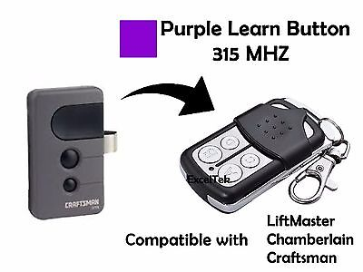 Garage Remote Control Sears Craftsman Purple Learn 139.53920 139.53914 139.53930