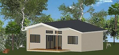 DIY KIT - The OCEANVIEW 60 Granny Flat for Concrete Slab - 60m2 - 2 Bedroom