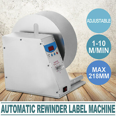 Automatic Label Tags Rewinder Rewinding Machine Printer Workroom Worker