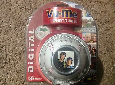 Digital Photo / Picture Frame Baseball Sports Display USB Vu-Me Photo Ball New!