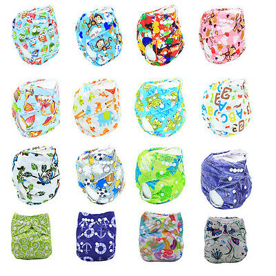Newborn Baby Diaper Cover Adjustable Reusable Washable Nappies Soft Cloth Wrap