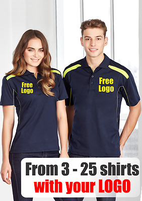 From 3 - 25 shirts Men United Polo with Your Embroidered LOGO (Biz P244MS)