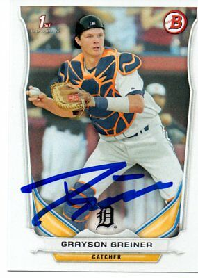 Grayson Greiner Detroit Tigers 2014 Bowman Rookie Signed Card