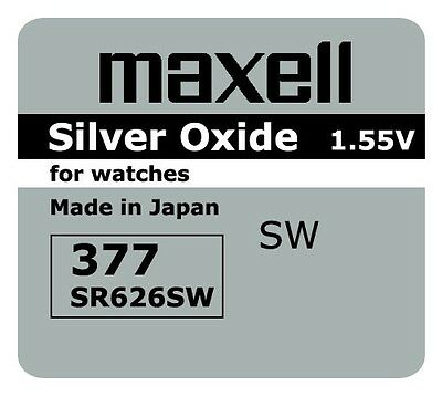 5 NEW SR626SW 377 Silver Oxide 1.55V Watch Battery Made in Japan FREE SHIPPING
