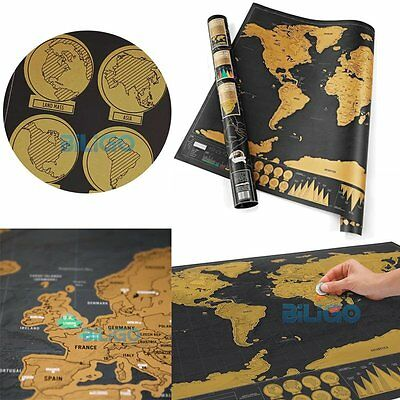 Deluxe Edition Off World Map Poster Personalized Travel Journal Log