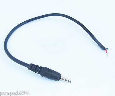 1pc 25cm 0.25M 3.5mmx1.35mm DC Power Plug Male Connector Cable Pigtail Plug Wire