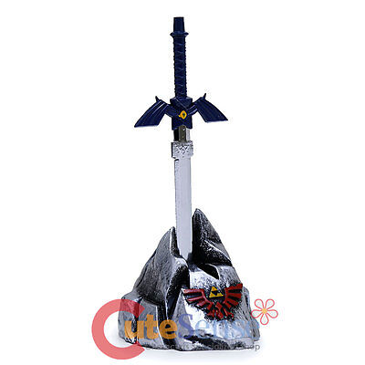 Legend of Zelda Master Sword Letter Opener with Stone Display