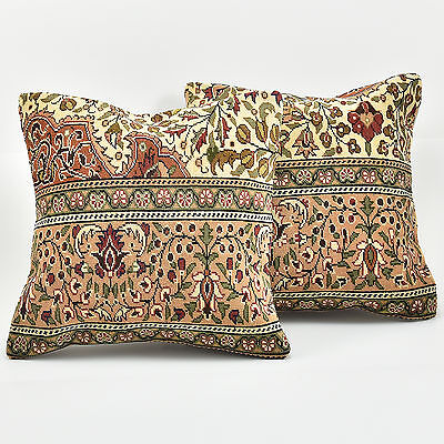 Turkish Handmade Pillow With Kayseri Rug Unique Cover Two Pillows Cushion Covers