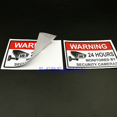 """Home CCTV Surveillance Security Camera Video Sticker Warning Decal Signs 2 x 3"""""""
