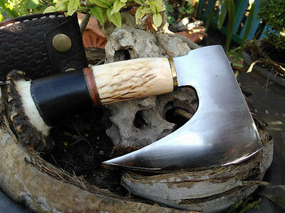 Hand Forged EDC - Axe Mini Hatchet Axe - Camp Hand Axe Leather Axe Sheath