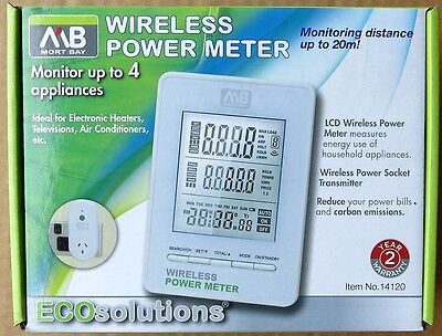 MORT BAY Wireless Power Meter - Monitor up to 4 Appliances - SAVE Energy Bills