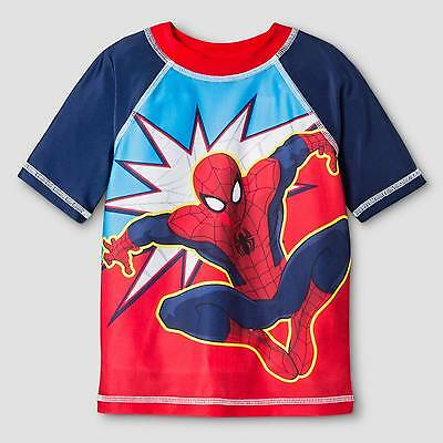 Toddler Boys' Spiderman® Rash Guard - Red 4T