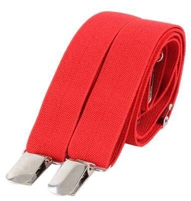 Knightsbridge Neckwear Clip on Braces - Red