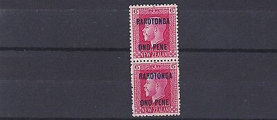 Cook Is 1919  S G 52B      6D Vertical Pair  Mh & Mnh