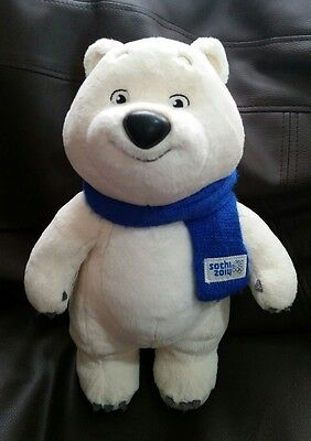 """Sochi 2014 Winter Olympic Soft Toy Bear Russian Mascot approx 12.5"""" standing"""